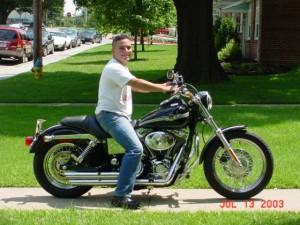 Andrew on his bike